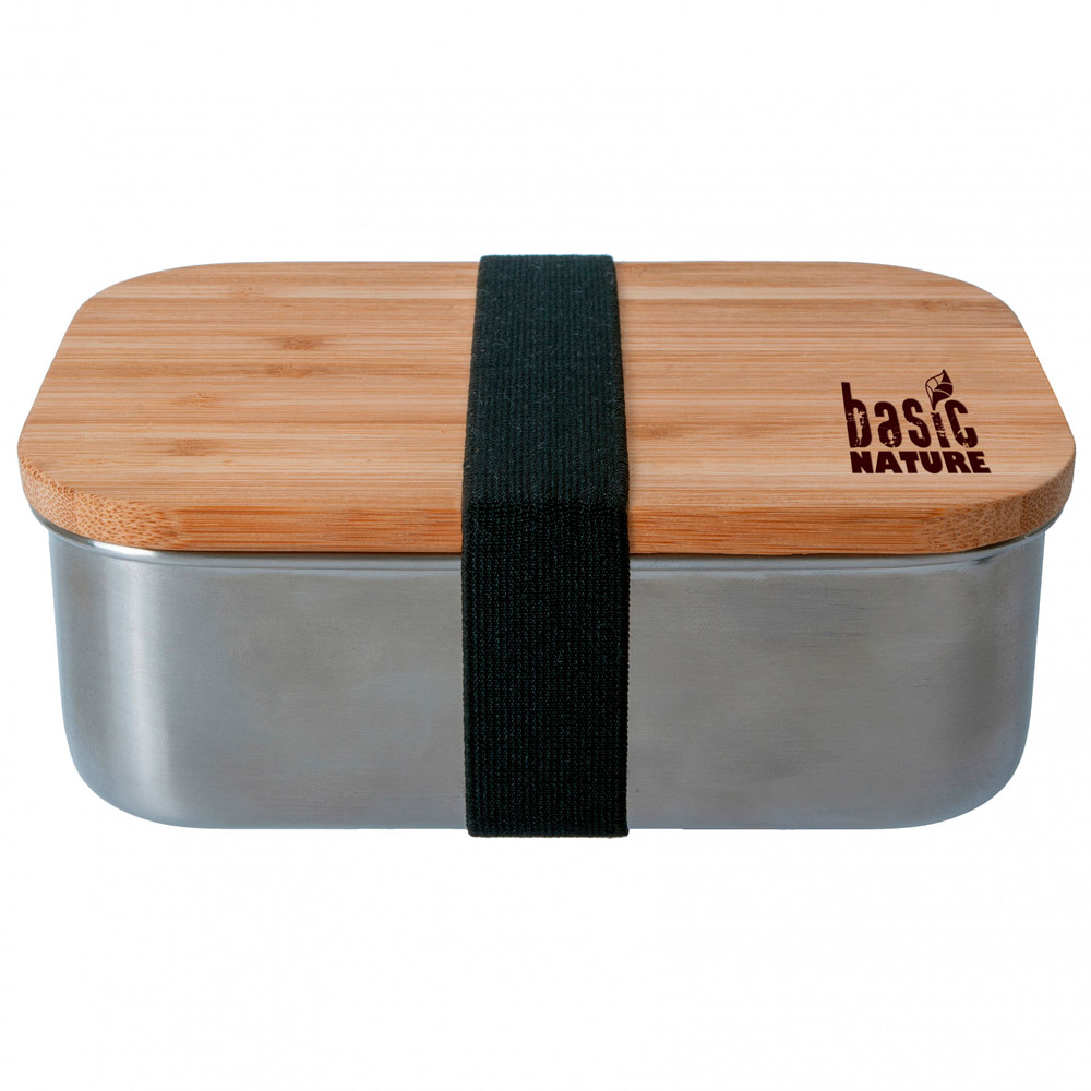 Basic Nature Lunchbox ´Bamboo´ - rustfrit stål 1,2 L