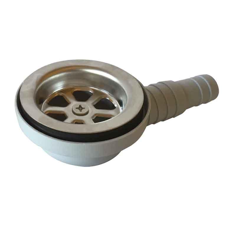 Vaskstuds med vinklet afløbsstuds ø20/25 mm