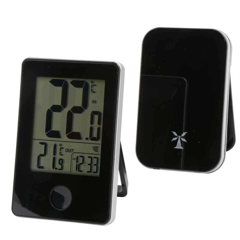 Trådlös digital inneute termometer med klocka