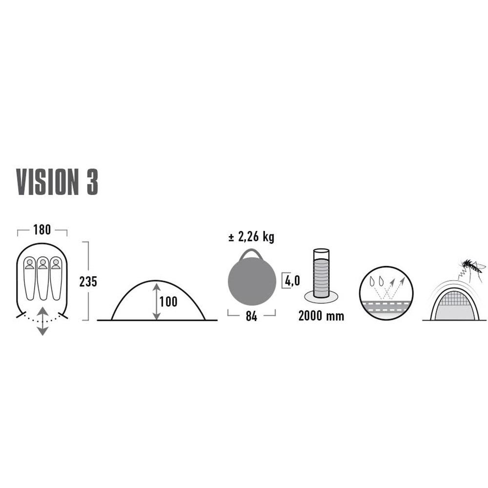 High Peak Vision 3 PopUp tält   Köp 3 manstält på nätet här