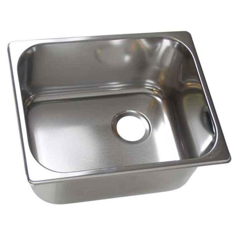 Rustfri køkkenvask - Dybde: 150 mm