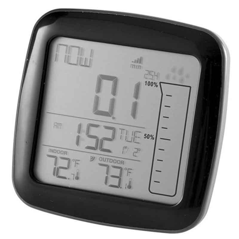 Regnmätare med uteinne termometer   Köp regnmätare här