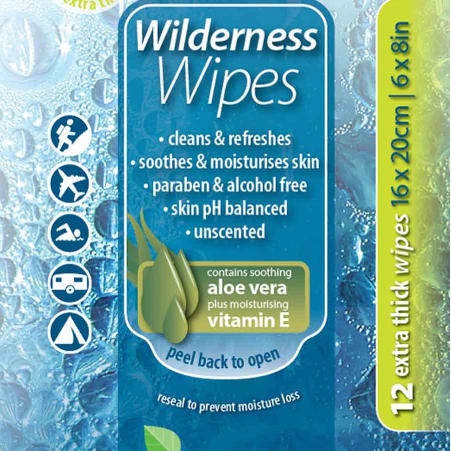 Wilderness Wipes vaskeservietter (12 stk)